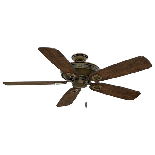 Casablanca 59527 Heritage 60 in. Transitional Aged Bronze Reclaimed Antique Veneer Outdoor Ceiling Fan