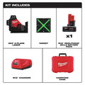 Milwaukee 3632-21 M12 360-Degree 3-Plane Cordless Laser Kit - Green (4 Ah) image number 1