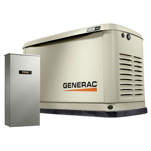 Generac 70391 Guardian Series 20/18 KW Air-Cooled Standby Generator with Wi-Fi, Aluminum Enclosure, 200SE (not CUL) image number 1