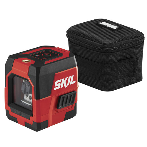 Skil LL932301 50 ft. Self-levelling Red Cross Line Laser with Integrated Rechargeable Lithium-Ion Battery image number 0
