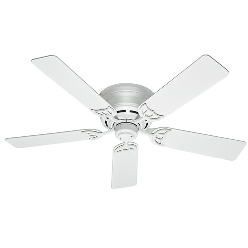 Hunter 53069 52 in. Low Profile III White Ceiling Fan image number 0