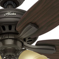 Hunter 53317 52 in. Newsome Premier Bronze Ceiling Fan with Light image number 8