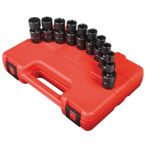 Sunex 3657 10-Piece 3/8 in. Drive Metric Universal Impact Socket Set image number 0