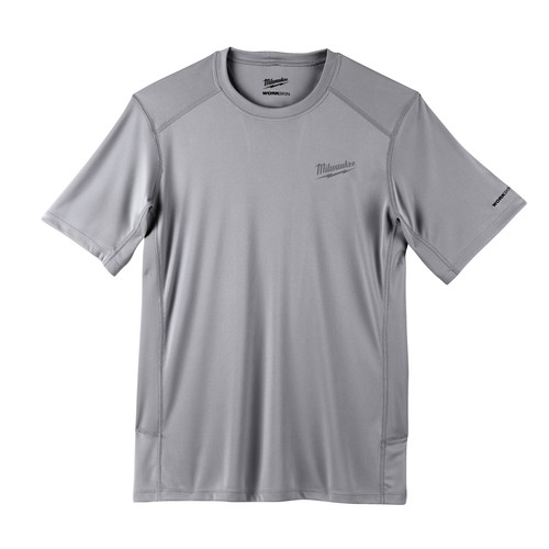 Milwaukee 414G-XL WORKSKIN Lightweight Short Sleeve Performance Shirt - Gray, X-Large image number 0