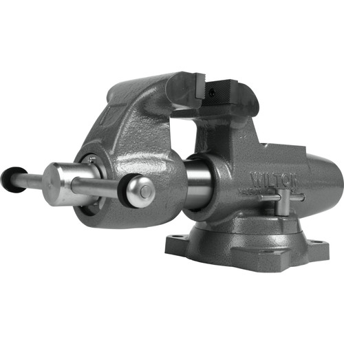 Wilton 28832 Machinist 5 in. Jaw Round Channel Vise with Swivel Base image number 0