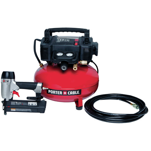 Factory Reconditioned Porter-Cable PCFP12236R Brad Nailer & Compressor Combo Kit