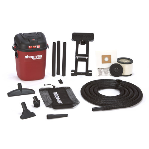 Shop-Vac 3940100 3.5 Gallon 3.5 Peak HP Wall Mount Wet/Dry Vacuum