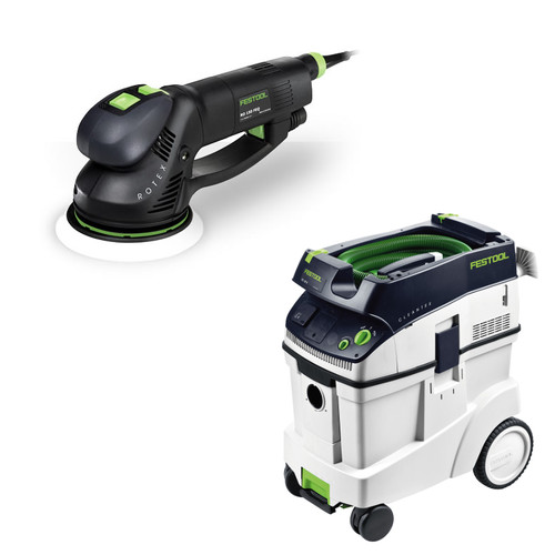 Festool RO 150 FEQ Rotex 6 in. Multi-Mode Sander with CT 48 E 12.7 Gallon HEPA Dust Extractor