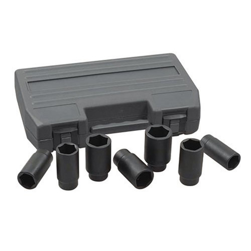 GearWrench 41650 7-Piece 1/2 in. Drive 6-Point Metric Axle Nut Socket Set image number 0
