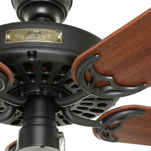 Hunter 23838 52 in. Outdoor Original Black Ceiling Fan image number 5