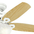 Hunter 52217 42 in. Builder Small Room Snow White Ceiling Fan with Light image number 6