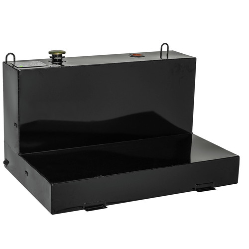 JOBOX 488002 76 Gallon Low-Profile L-Shaped Steel Liquid Transfer Tank - Black image number 0