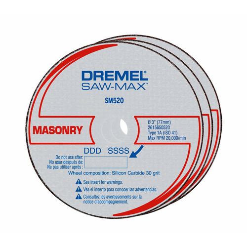 Dremel SM520C 3 in. Masonry Cut-Off Wheels (3-Pack)