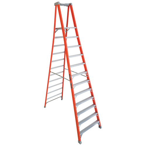 Louisville FXP1712 12 ft. Type IA Duty Rating 300 lbs. Load Capacity Fiberglass Platform Step Ladder image number 0