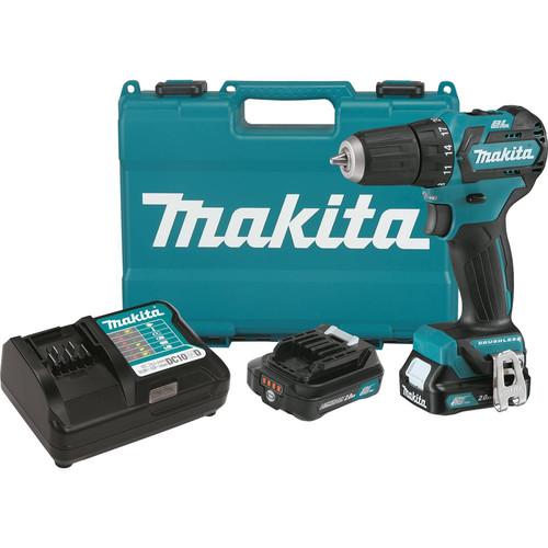 Makita FD07R1 12V max CXT 2.0 Ah Lithium-Ion Cordless Brushless 3/8 in. Drill Driver Kit