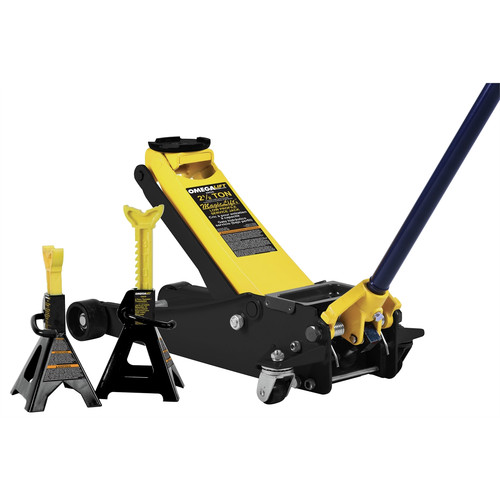 OMEGA 25055 2.5 Ton Magic Lift Service Jack with 3 Ton Stands image number 0