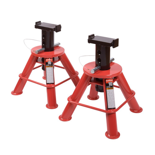 Sunex 1210 10 Ton Low Height Pin Type Jack Stands (Pair) image number 0