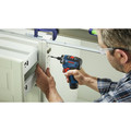 Bosch GSR12V-300HXB22 12V Max Brushless Lithium-Ion Two-Speed Hex 1/4 in. Cordless Screwdriver Kit (2 Ah) image number 5