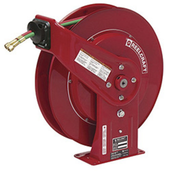 Reelcraft TW7450OLP WELD HOSE REEL 1/4X50 GR R; 1/4-in x 50ft, 200 psi, gas welding hose reel with hose