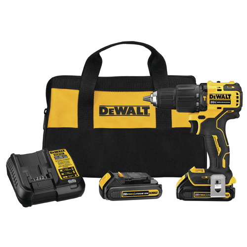 Dewalt DCD709C2 ATOMIC 20V MAX Brushless Compact Lithium-Ion 1/2 in. Cordless Hammer Drill/Driver Kit (1.5 Ah) image number 0