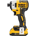 Dewalt DCF887D2 20V MAX XR 2.0 Ah Cordless Lithium-Ion 1/4 in. Brushless Impact Driver Kit image number 2