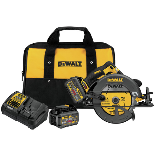 Dewalt DCS575T2 FlexVolt 60V MAX Cordless Lithium-Ion 7-1/4 in. Circular Saw Kit with Batteries image number 0