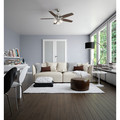 Hunter 53318 52 in. Newsome Brushed Nickel Ceiling Fan with Light image number 10