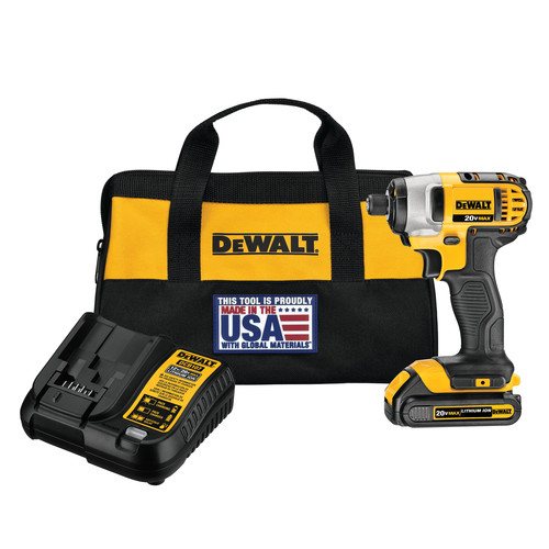 Dewalt DCF885C1 20V MAX 1.5 Ah Cordless Lithium-Ion 1/4 in. Impact Driver Kit image number 0