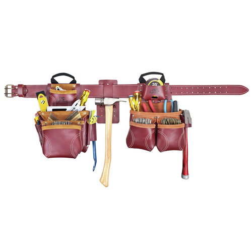 CLC 21455 19 Pocket - Top of the Line Pro Framer's Heavy Duty Leather Combo Tool Belt System - Large image number 0