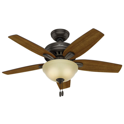 Hunter 51087 42 in. Newsome Premier Bronze Ceiling Fan with Light image number 2