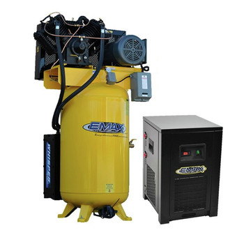 EMAX ESP07V080V3PK 7.5 HP 80 Gallon Oil-Lube Stationary Air Compressor with 115V 4 Amp Refrigerated Corded Air Dryer Bundle