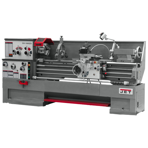 JET GH-1660ZX-TAK Lathe with Taper Attachment Installed