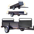 Detail K2 MMT5X7 5 ft. x 7 ft. Multi Purpose Utility Trailer (Black powder-coated) image number 7