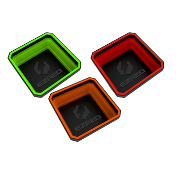 EZ Red EZTRAY-CLR 3-Piece Collapsible Magnetic Parts Tray Set