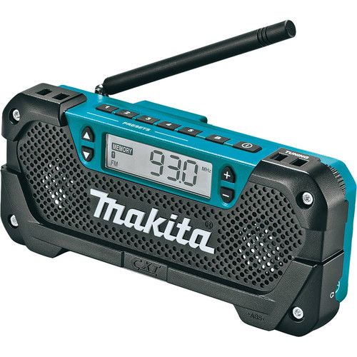 Makita RM02 12V max CXT Cordless Lithium-Ion Compact Job Site Radio (Tool Only) image number 0