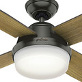 Hunter 59443 60 in. Dempsey with Light Noble Bronze Ceiling Fan with Light and Handheld Remote image number 3