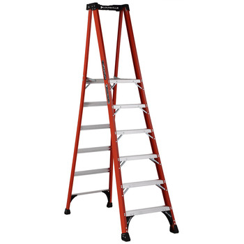 Louisville FXP1806HD 6 ft. Type IAA Duty Rating 375 lbs. Load Capacity Fiberglass Platform Step Ladder