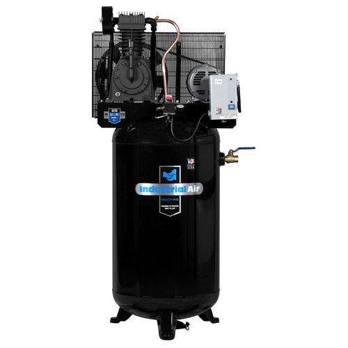 Industrial Air IV5038055 5.5 HP 230V 80 Gallon Baldor Powered Vertical Stationary Air Compressor