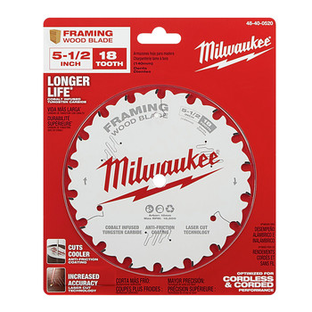 Milwaukee 48-40-0520 5-1/2 in. 18T Framing Circular Saw Blade image number 1