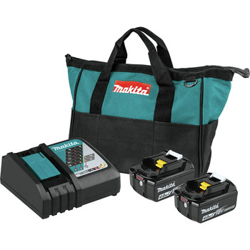Makita BL1840BDC2 18V LXT Lithium-Ion Battery and Rapid Optimum Charger Starter Pack (4 Ah)