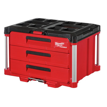 Milwaukee 48-22-8443 PACKOUT 50 lbs. Capacity 3-Drawer Tool Box