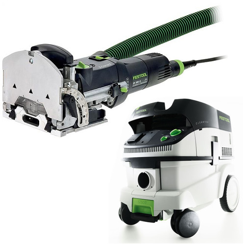 Festool DF 500 Q Domino Mortise and Tenon Joiner with CT 26 E 6.9 Gallon HEPA Mobile Dust Extractor