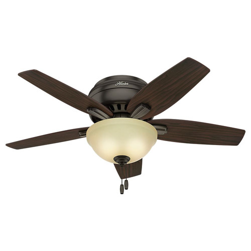 Hunter 51081 42 in. Newsome Premier Bronze Ceiling Fan with Light