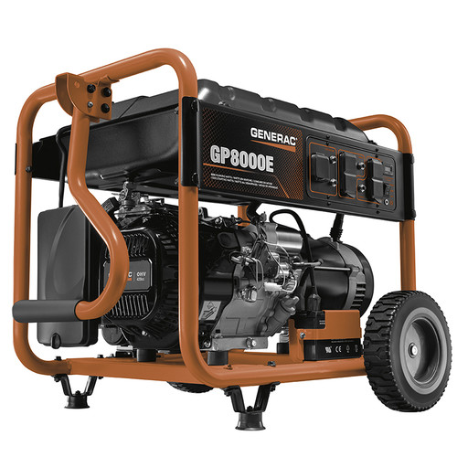 Generac 6954 GP800E 8,000 Watt Gas Portable Generator image number 0
