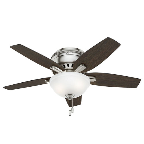 Hunter 51082 42 in. Newsome Brushed Nickel Ceiling Fan with Light image number 0