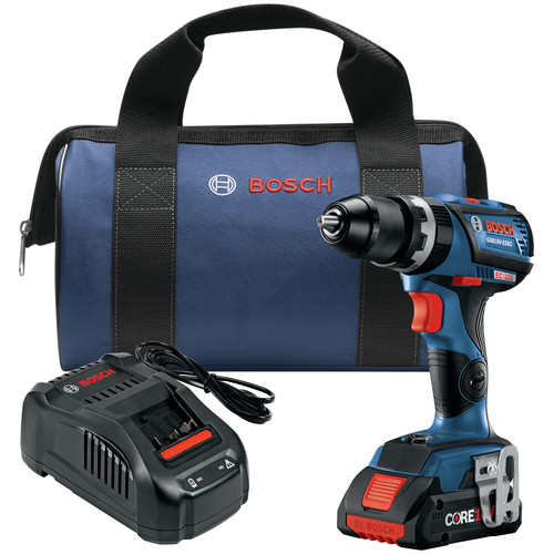 Bosch GSB18V-535CB15 18V Lithium-Ion EC Brushless Connected-Ready Compact Tough 1/2 in. Cordless Hammer Drill Driver Kit (4 Ah) image number 0