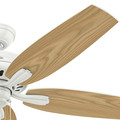 Hunter 53322 52 in. Newsome Fresh White Ceiling Fan image number 3