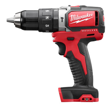 Factory Reconditioned Milwaukee 2702-80 M18 Lithium-Ion Brushless Compact 1/2 in. Cordless Hammer Drill Driver (Tool Only)