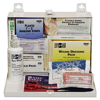 Pac-Kit 6100 25-Person Steel First-Aid Kit with Eyewash