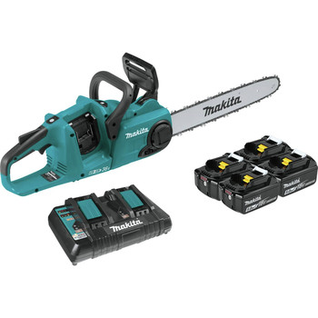 Makita XCU04PT1 18V X2 (36V) LXT Lithium-Ion Brushless 16 in. Cordless Chain Saw Kit (5 Ah)